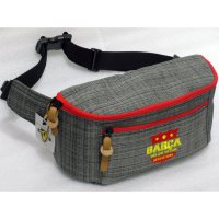 Tas Klub Bola Barcelona Waistbag Grey