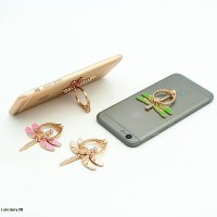 Handphone Ring Hook Stand Holder warna Emas Bentuk Capung