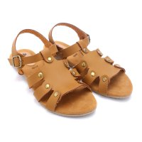 Dr.Kevin Leather Sandals 26109 Tan