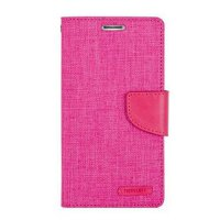Mercury Canvas Diary Case Samsung Galaxy V / ACE 4 Casing Cover Flip - Pink