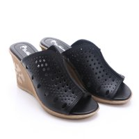 Dr.Kevin Leather Sandals 27227 Black
