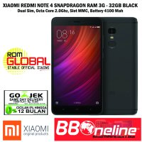 LIMITED XIAOMI REDMI NOTE 4 3GB/32GB VERSI GLOBAL SNAPDRAGON 625 - BLACK
