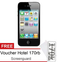Apple iPhone 4 32GB iOS 7 - Free Voucher Hotel 170rb