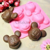 Cetakan Kue / Pudding Mickey 4 Cavity