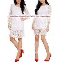 Mini dress brokat fashion import