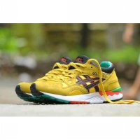 sepatu sport casual skate men asics gel lyte v yellow black