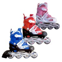 Sepatu Roda Inline Skate POWER SUPER B Blue / Pink / Red - SIZE SML