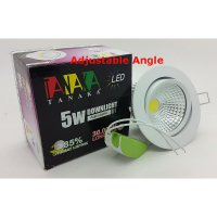 [TANAKA] Lampu Ceiling Downlight LED COB 5 watt Adjustable ( Warm White )