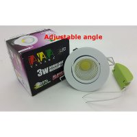 [TANAKA] Lampu Ceiling Downlight LED COB 3 watt Adjustable ( Warm white )