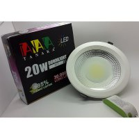 [TANAKA] Lampu Ceiling Downlight LED COB 20 watt frosted glass ( cahaya PUTIH )
