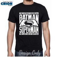 Kaos Batman vs Superman - Batman vs Superman Logo Vektor - By Crion