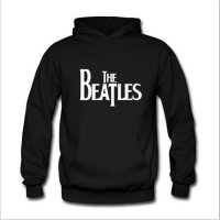 Jaket Sweater Hoodie The Beatles Logo Dengan Bahan Sablon Timbul Kaos