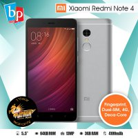 XIAOMI REDMI NOTE 4 3/64 ( GREY ) ROM GLOBAL - 4G LTE