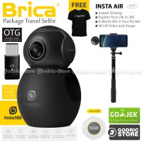Brica B-PRO Insta360 Air Panoramic HD 3K Dual Fish Eye VR Insta 360 Camera (USB Type-C) Free Tongsis