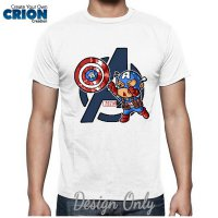 Kaos Superhero Versi Lucu Captain America by Crion