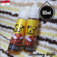 Fox Trot 60ml Eliquid Vape - Strawberry Waffle (Premium Liquid)