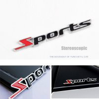 Sports Metal Sticker Car - Stiker Emblem Aksesoris Mobil Sporty