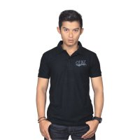 Catenzo Kaos Polo Shirt Pria PLx907 Black