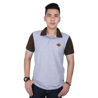 Catenzo Kaos Polo Shirt Pria PLx915 grey