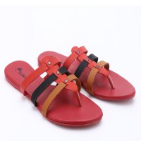 Dr.Kevin Leather Sandals 27288 Red