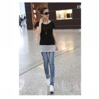 spring and summer short-sleeved t-shirt explosion models of mixed colors large size t-shirt