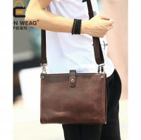 Tas Selempang Pria 2 in 1 (clutch and bag) (Solid Brown)