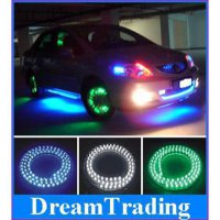 [globalbuy] 48cm 6pcs/lot,Membrane wall lights led strip car chassis lamp,grill light ,whe/4524880