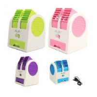 Mini Air Conditioner Fragrance Double Fan / AC Duduk Mini 2 Fan