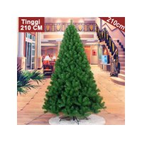 HO2865 - Pohon Natal Green Christmas Tree Plain Yosemite (Tinggi 210cm)