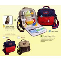Tas Bayi Scots - Baby Scots Embroidery Simple Bag Coklat