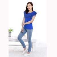 LF-1045 Korean style Blouse Double Layer Short Sleeve -
