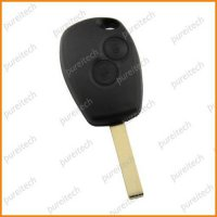 [globalbuy] renault logan key fobs case with battery clip 2 button no logo car remote key /4302659