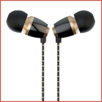 Headset Vivan VE-M30 Metal Ceramic Texture Wired Headset Black+Golden