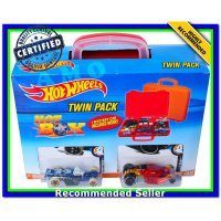 (Diecast Mobil) DIECAST HOTWHEELS TWIN PACK CARRY CASE