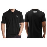 Polo Shirt Slipknot - Hitam