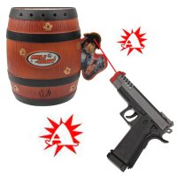 Funny Fashionable Shoot Gun Game Toy with Flash Light / Sound Effects