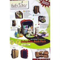 Tas Ransel Bayi - Baby Scots Back Pack With Folding Changing Pad