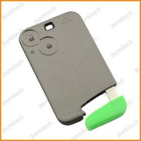 [globalbuy] 15pieces/lot renault laguna 2 car remote key card shell fob 2 buttons no logo/4519609