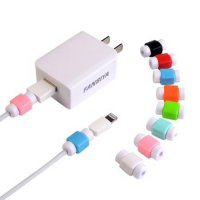[globalbuy] Wholesale 100 Pieces USB Cable Protector For IPhone Charging Line Protective D/4231016