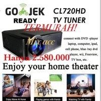 Cheerlux CL720 HD Proyektor Projector Portable LED 3000 Lumens - Hitam