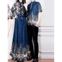 Couple Gamis Athsan Blue