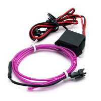 [globalbuy] 1M Flexible Cool Light Glow LED EL Wire Tape Rope Strip Car Charger DC 12V Int/4524068