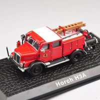 [globalbuy] 1/72 Scale Diecast Car Model Toys Atlas Horch H3A Alloy Retro Fire Truck Vehic/4558952