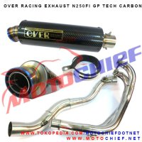 Knalpot Over Racing N250Fi Gp Tech Carbon
