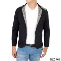 Casual Trendy Man Blazers Stretch Hitam – BLZ 709