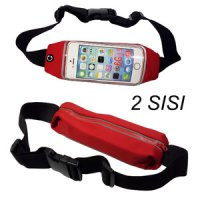 Tas Pinggang Tahan Air 2 sisi - 2 Sides Waterproof Sport Bag -Red