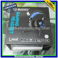 (Headset) Sades Locust Usb Surround Gaming Headset