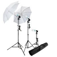 Portrait Foto Studio Lightning Kit - Black