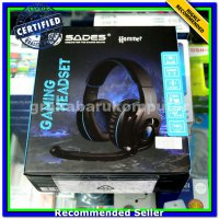 (Headset) Sades Hammer 7.1 Surround Gaming Headset with Vibration