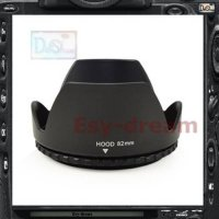 [globalbuy] 82mm 82 Lens Hood Crown Flower Petal Shape Len Hood PA313/1969306